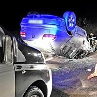 Un choque frontal deja tres heridos en la carretera de Valverde