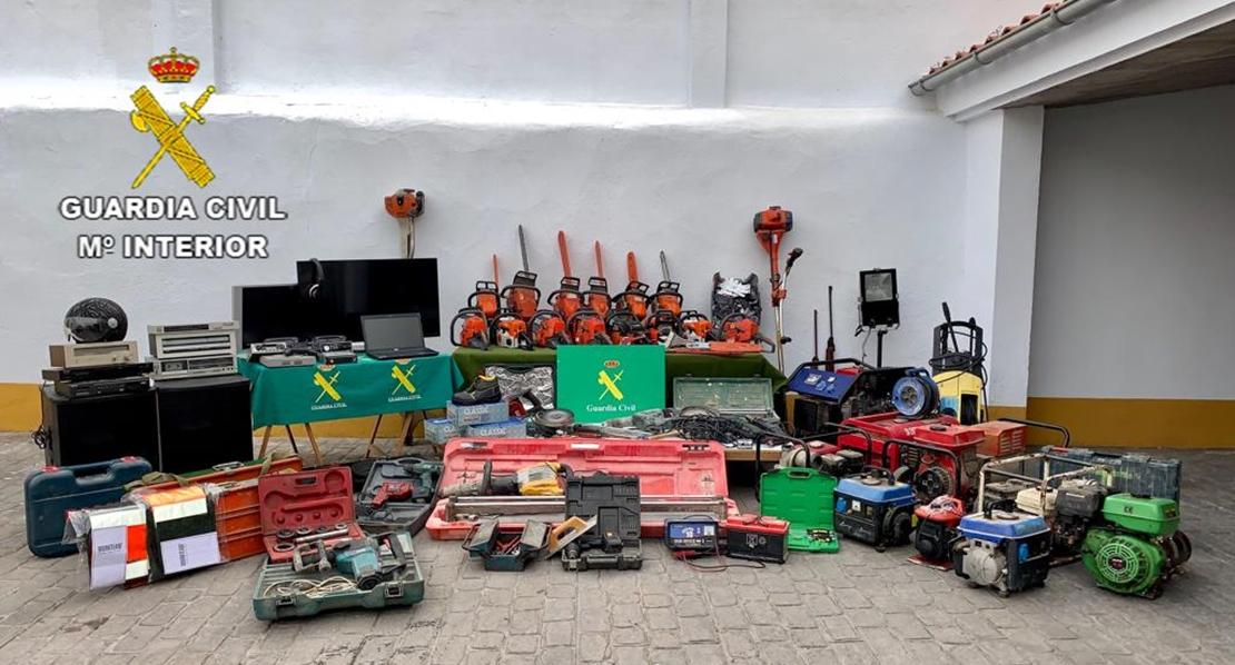 La Guardia Civil recupera el botín robado en Extremadura por una banda