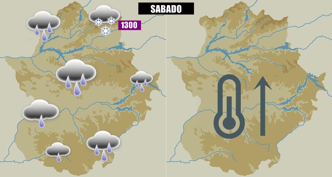 La lluvia volverá a Extremadura esta semana
