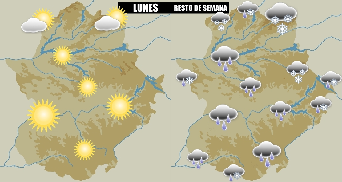 Semana de cambios importantes en Extremadura