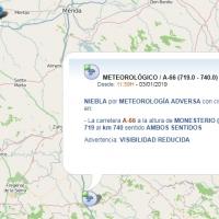 Problemas con la niebla en 20km de la Ruta de la Plata al sur de Badajoz
