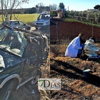 Dos heridos en una colisión entre dos vehículos en Villafranca de los Barros