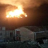 Se sospecha que el incendio de Guijo de Santa Bárbara ha sido intencionado