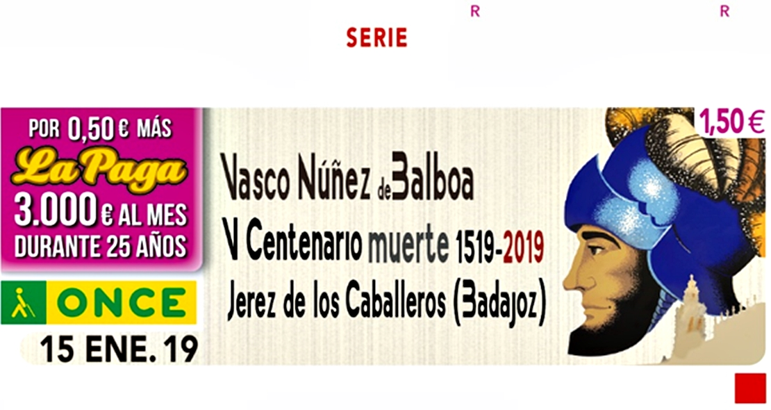 La ONCE difunde la figura del descubridor extremeño Núñez de Balboa