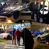 Accidente y vuelco en Pardaleras (Badajoz)