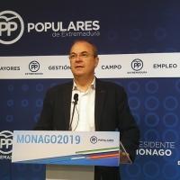 Monago cree que Sánchez no convocará elecciones