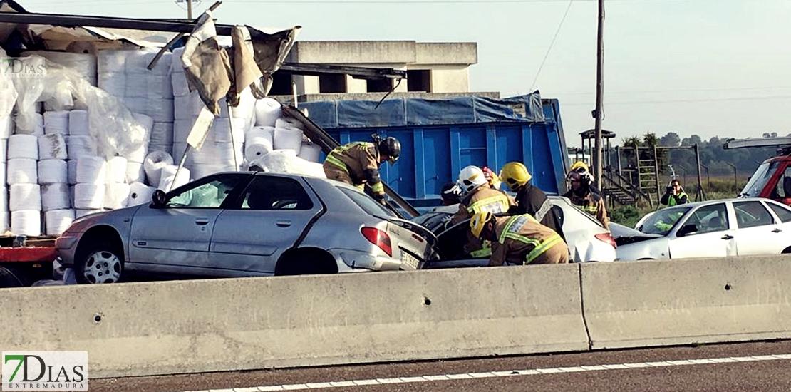 Imágenes del accidente en la autovia A-5