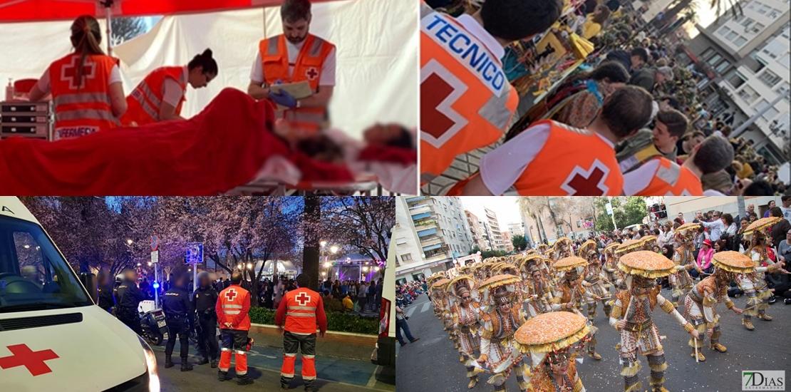 Aumentan un 30% las actuaciones de Cruz Roja en el Carnaval de Badajoz