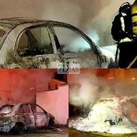 Arde un vehículo de madrugada en Guadiana del Caudillo