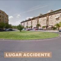 Herido grave tras una colisión en una rotonda de Badajoz