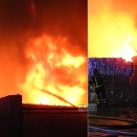 4 parques del CPEI luchan contra las llamas en un centro de reciclaje de Almendralejo