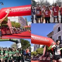 Jesús Antonio Núñez y María Mercedes Pila, vencedores de la Media Maratón de Mérida