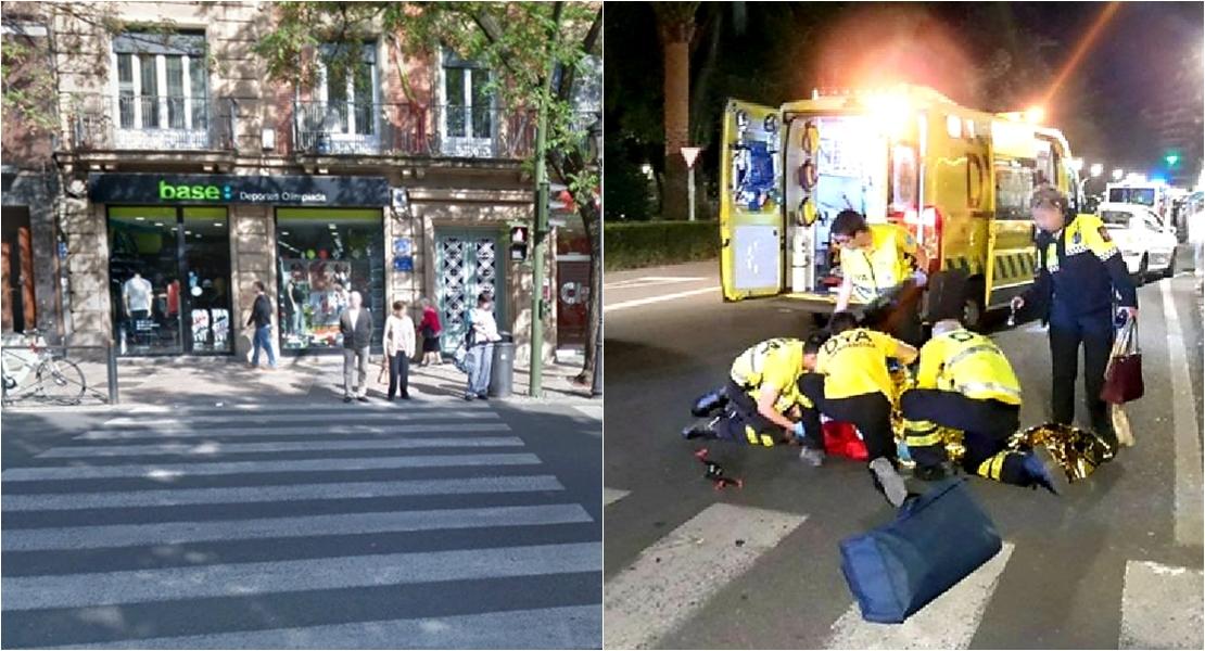 Mujer atropellada en el centro de Cáceres