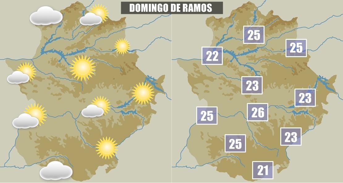 Previsión para el Domingo de Ramos en Extremadura