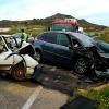 5 heridos en una violenta colisión en la EX-103