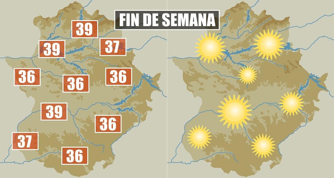 Algunas localidades extremeñas rozarán los 40 grados este fin de semana