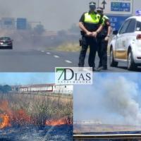 Arden las inmediaciones de la carretera de Campo Maior