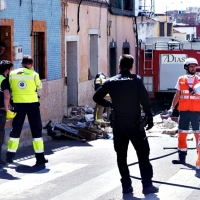 Varios atrapados tras derrumbarse una vivienda en el Cerro de Reyes (Badajoz)