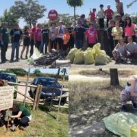 Adenex recoge más de 100 kilos de basura en el paraje de San Isidro de Calamonte