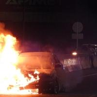 Se incendia un coche en la BA-020