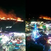 Los fuegos artificiales provocan un incendio en el inicio de la Feria de Cáceres