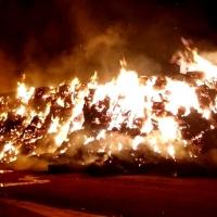 Incendio de alpacas en una finca cercana a Alburquerque