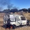Tres detenidos tras robar una furgoneta y calcinarla en Cabeza del Buey