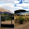 Grave incendio en el puerto de los Conejeros de Alburquerque