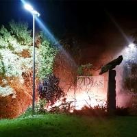 Incendio cercano a la avenida Santa Marina la pasada madrugada