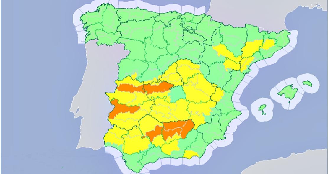 Activan la alerta naranja en varios puntos de Extremadura por calor