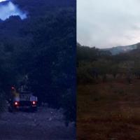 Bomberos forestales del Infoex extinguen un incendio en las Villuercas