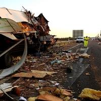 10 kilómetros de retenciones por un accidente en la autovía A5