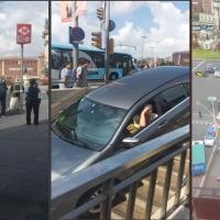Una mujer se arroja por unas escaleras con su vehículo pensando que era un parking