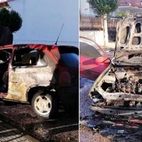 Sale ardiendo un vehículo en Olivenza