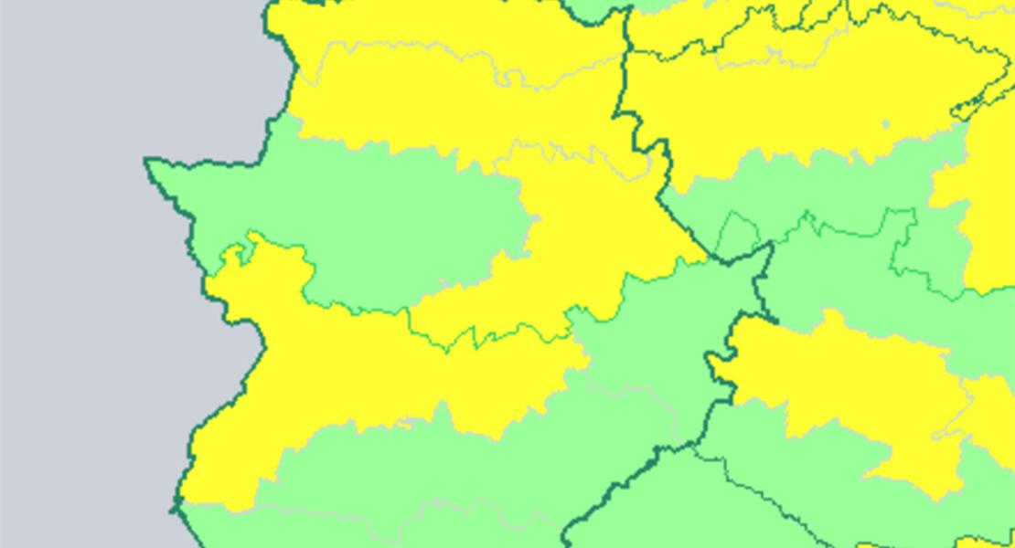 Alerta por fuertes tormentas en algunas zonas de Extremadura