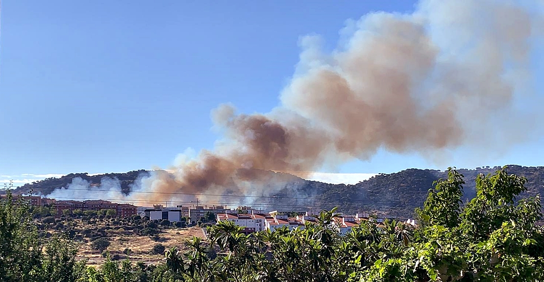 Incendio forestal en Plasencia