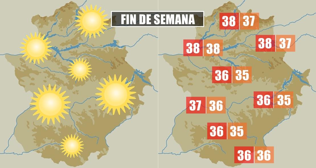 El calor seguirá apretando en Extremadura durante el finde
