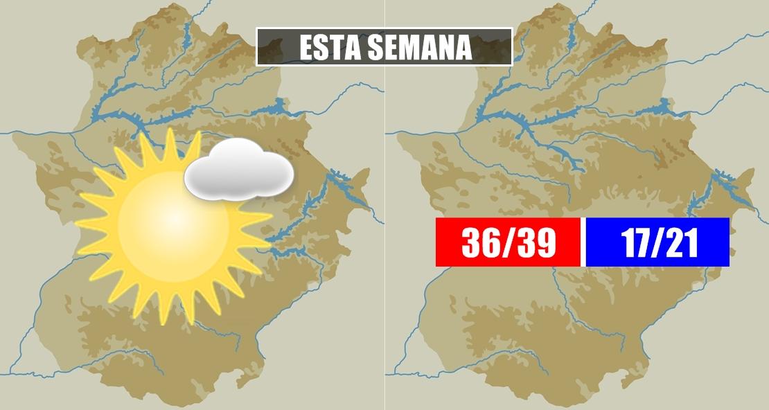 Las temperaturas no darán respiro a Extremadura esta semana