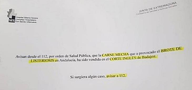 Polémica entre el SES y El Corte Inglés de Badajoz por la carne mechada