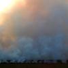 Una gran columna de humo alerta a los pacenses