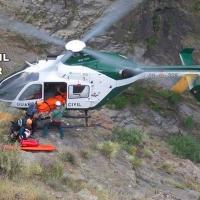 Rescatan a un senderista herido tras sufrir una caída en el 'Barranco Los Papúos' en Jerte