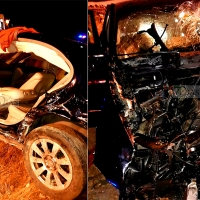 Un hombre de 61 años queda atrapado en su coche tras sufrir un accidente en Cáceres