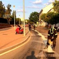Bomberos y Policía Local actúan conjuntamente en un accidente de tráfico en Villafranca