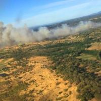 Reavivan las llamas de un incendio estabilizado en La Vera