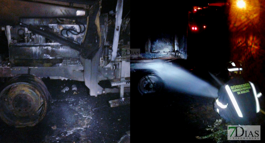 Los bomberos sofocan un incendio en un tractor y su remolque en Alburquerque