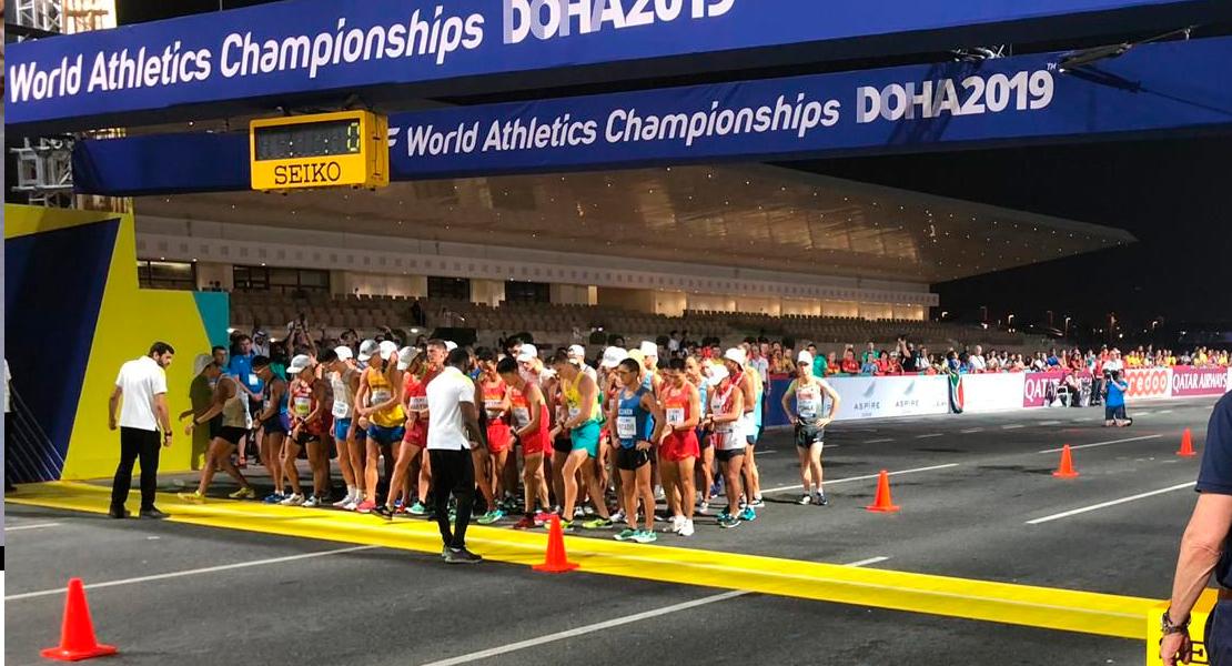 El calor y la humedad lastran la participación de Álvaro Martín en el Mundial de Doha