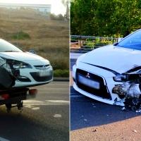 Dos coches colisionan en la avenida Manuel Rojas de Badajoz