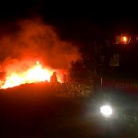 Los Bomberos intervienen en un incendio en Calzadilla de los Barros