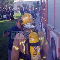 Un incendio en un Centro de Formación afecta a las plantas del internado de los estudiantes