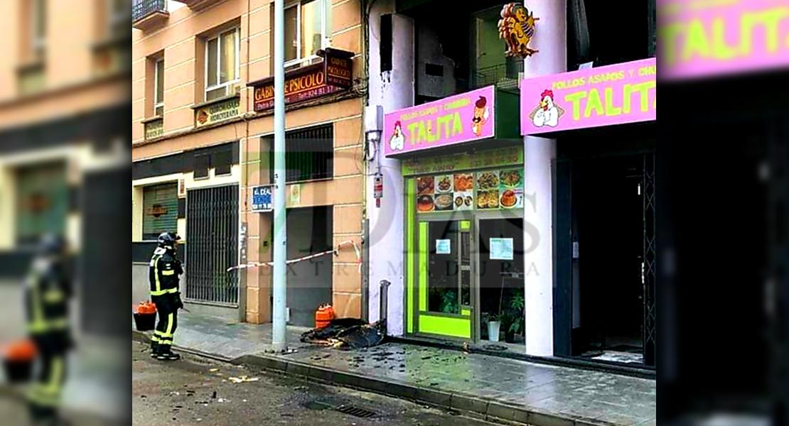 Incendio en un establecimiento de hostelería en Don Benito